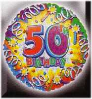 Motivballon-Happy Birthday Zahl 50