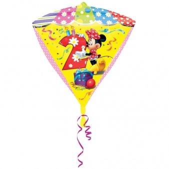 Diamonds Minnie Mouse Folienballon 2