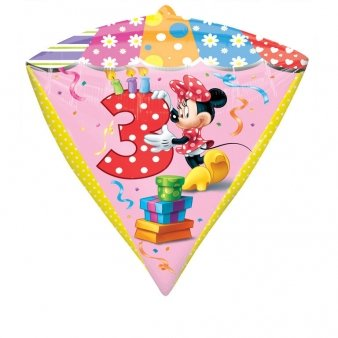 Diamonds Minnie Mouse Folienballon 3