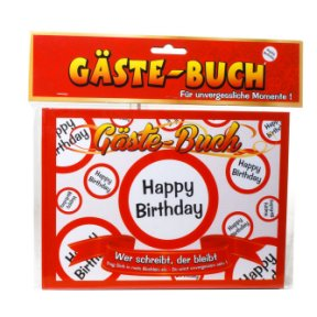 Gästebuch Happy Birthday