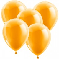 100 Luftballons 30 cm - Metallic - Orange