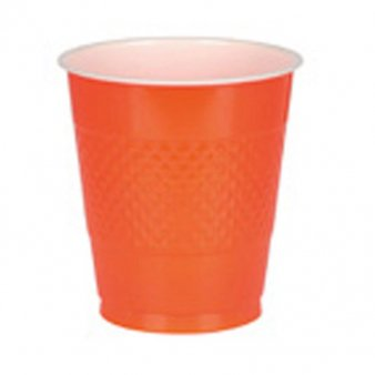 Orange Plastikbecher