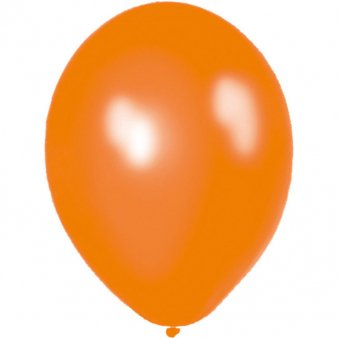 100 Luftballons - Ø 12cm - Metallic - Orange