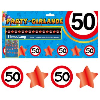 Party Glitter Girlande Zahl 50