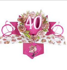 Pop Up Karte Happy Birthday 40,pink