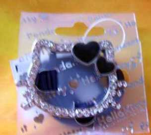 Hello Kitty Hearts Anhänger mit Lederband