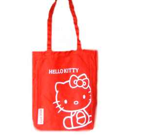 Hello Kitty Leinentasche Sitting RED