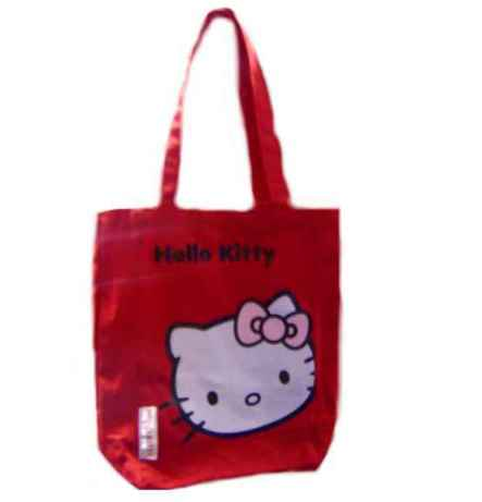 Hello Kitty Leinentasche Face ROT