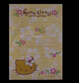 Hello Kitty Notizblock Hibiscus