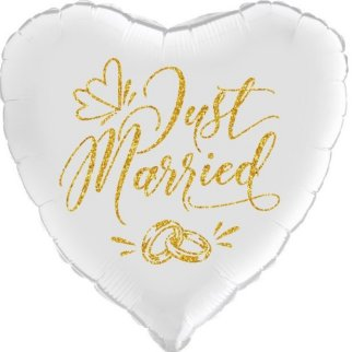 Just Married. Glimmer Gold Ballon
