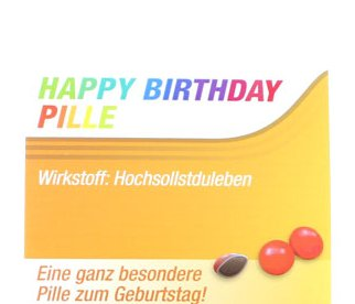 Scherztablette Happy Birthday