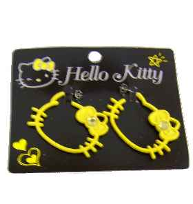 Hello Kitty XL Ohrstecker Pop YELLOW