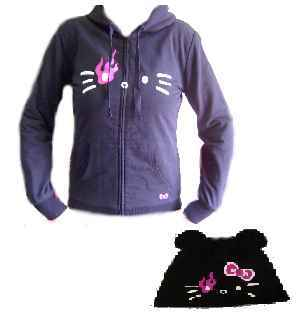 Hello Kitty Wende Sweatjacke Black Hoodie