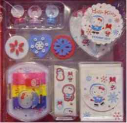 Hello Kitty Stempel Set ICE SKATE