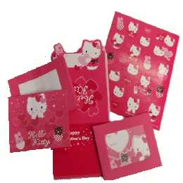 Hello Kitty Briefpapier Valentine Set