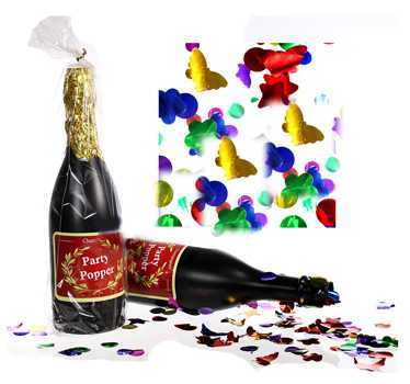 Party Popper Champagnerflasche