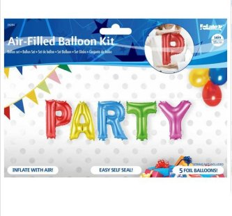 Folienballonbuchstaben PARTY Set