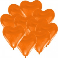 100 Herzballons - Ø 15cm - Orange