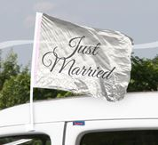 Just Married Autofahne