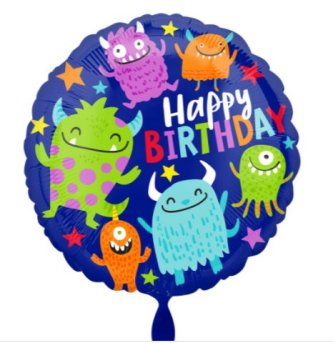 Happy Birthday Monster Ballon