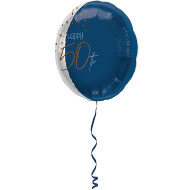 Folienballon Elegant True Blue 50 Jahre