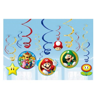 Super Mario Swirl Girlanden Set