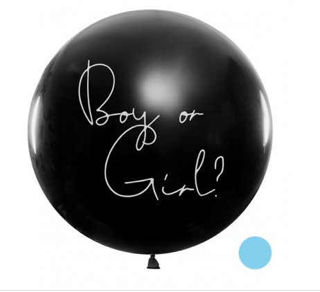 Riesenballon XL - Ø 1m - Boy or Girl - Blau