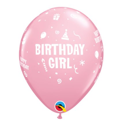 Happy Birthday Girl / Mädchen Ballons